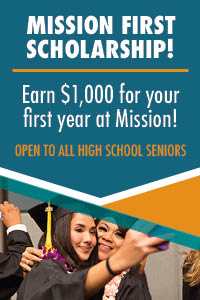 mission first scholarship button